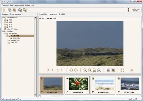 Hauptdialog der Version 2.1.0.32 in der Filmstreifenansicht