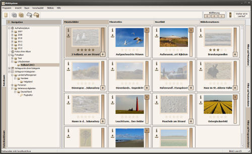 Miniaturbilder mit aktivierter Bildfilterung