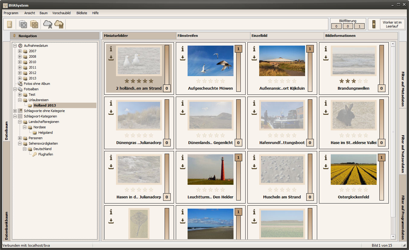 Screenshot vom Programm: BVASystem