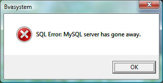 MySQL server has gone away.