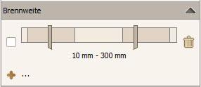 Filterkriterium Brennweite
