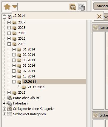 Lesezeichen im Datenbank-Modus